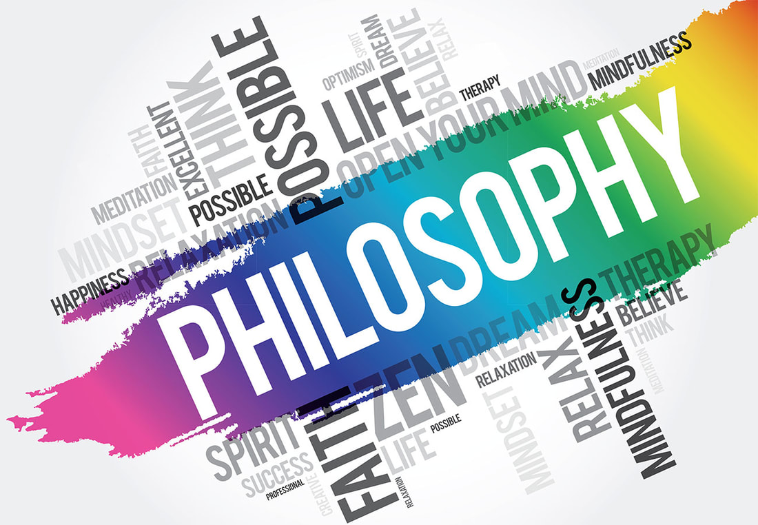 Good Profit Philosophy : Colorful picture showing thoughts, such as life, excellent, possible, spirit, happiness faith etc contained in philosophy by Gaurav Sharma. GSW.